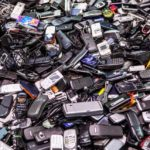 E-waste such as cell phones, wires etc
